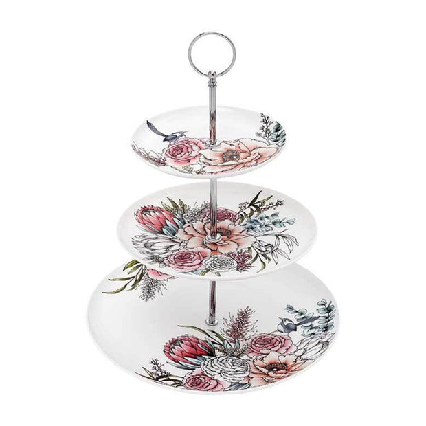 Ashdene Native Bouquet 3 Tier Cake Stand - 517243 - Jashanmal Home