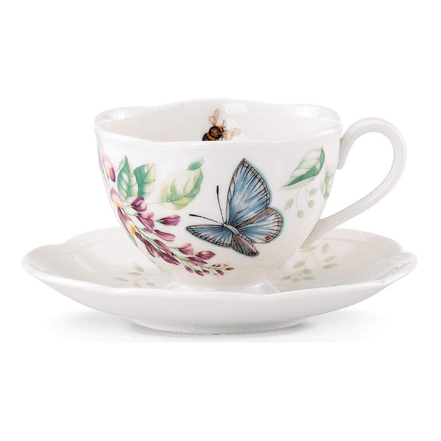 Ashdene Lenox Butterfly Meadow Blue Cup and Saucer - White - 812098