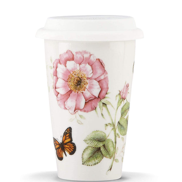 Ashdene Lenox Butterfly Meadow Thermal Travel Mug - White - 837583