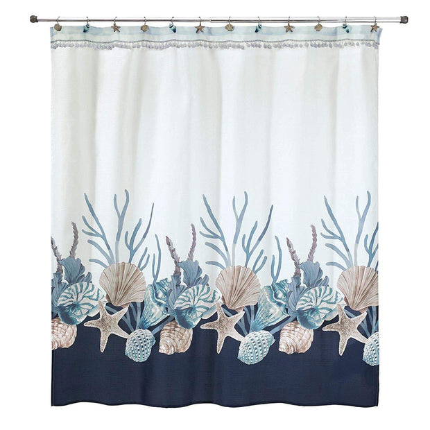 Avanti Blue Lagoon Shower Curtain - Multicolour - 13655H - Jashanmal Home