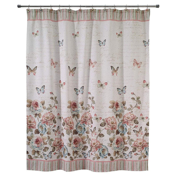 Avanti Butterfly Garden Shower Curtain - Multicolour - 13882H - Jashanmal Home