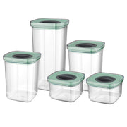 BergHOFF Leo Smart Seal 5 Piece Food Containers - Transparent - 3950129 - Jashanmal Home