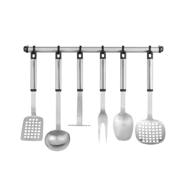 Berghoff Essentials 8 Piece Kitchen Utensil Set - Silver - 1308055 - Jashanmal Home