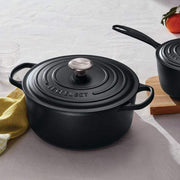 LE CREUSET ROUND FRENCH OVEN 28CM SATIN BLACK - 21177280000430