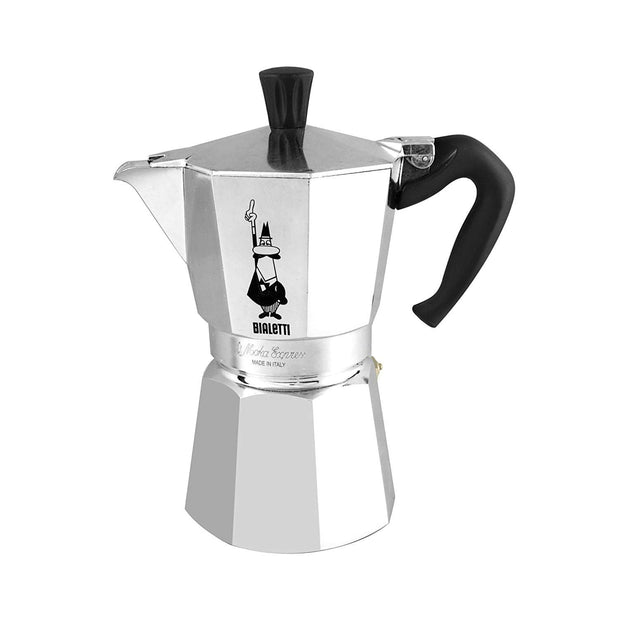 Bialetti Moka Express Coffee Maker - Silver, 3 Cups - 1162 - Jashanmal Home