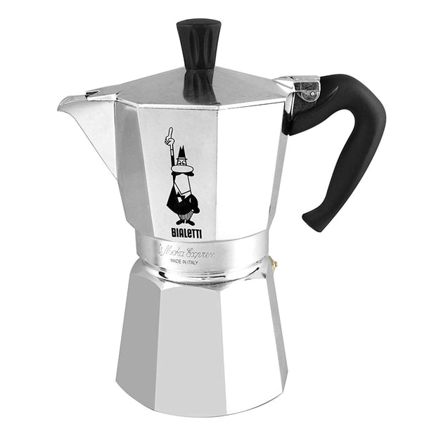 Bialetti Moka Express Coffee Maker - Silver, 4 Cups - 1164 - Jashanmal Home