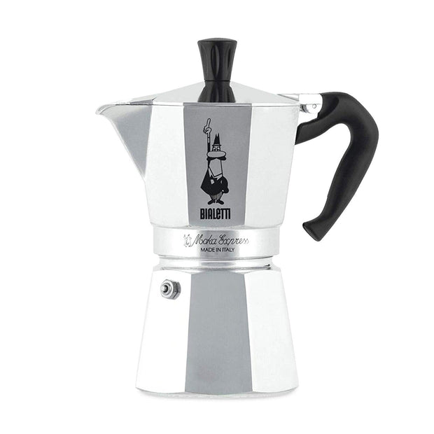 Bialetti Moka Express Coffee Maker - Grey, 6 Cups - 1163 - Jashanmal Home
