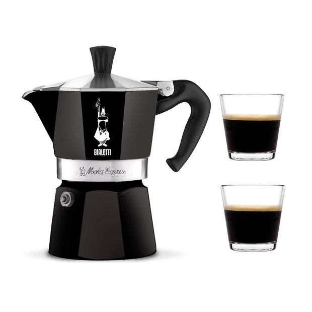 Bialetti Moka Express Coffee Maker - Black, 130 ml - 4952 - Jashanmal Home