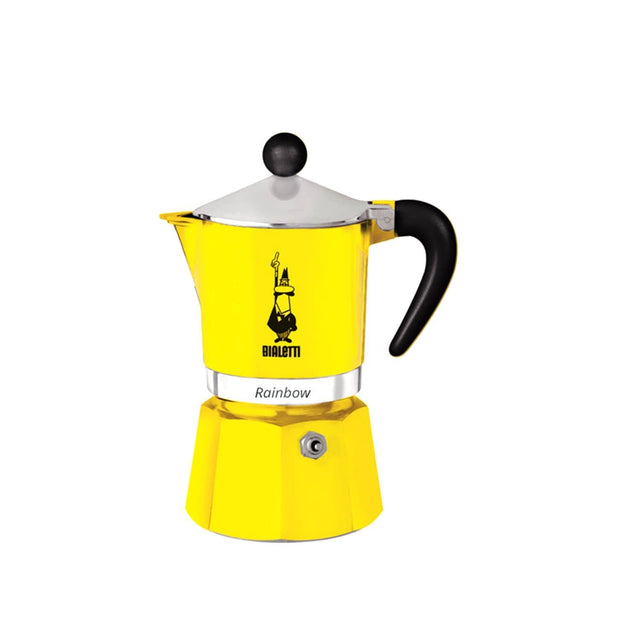 Bialetti Rainbow Coffee Maker - Yellow, 6 Cups - 4983 - Jashanmal Home