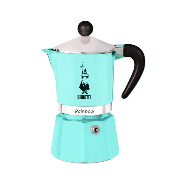Bialetti Rainbow Coffee Maker - Light Blue - 5041 - Jashanmal Home