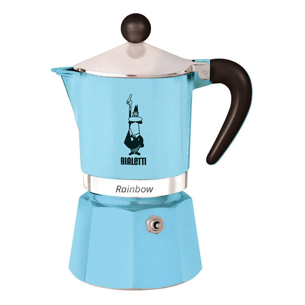 Bialetti Rainbow Coffee Maker - Light Blue, 3 Cups - 5042 - Jashanmal Home