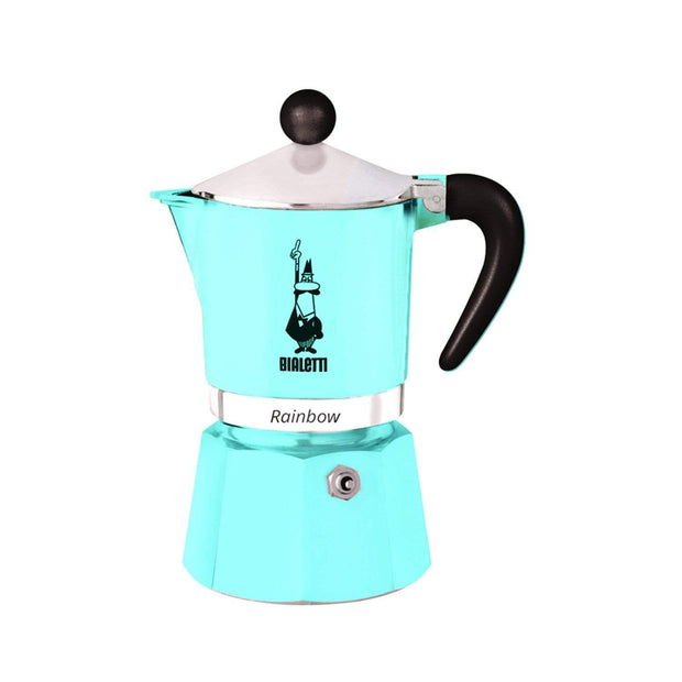 Bialetti Rainbow Coffee Maker - Blue, 6 Cups - 5043 - Jashanmal Home