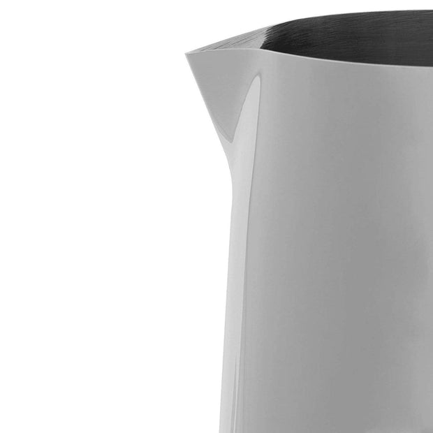 Bialetti Milk Pitcher - White and Silver, 30 Litre - 1806 - Jashanmal Home