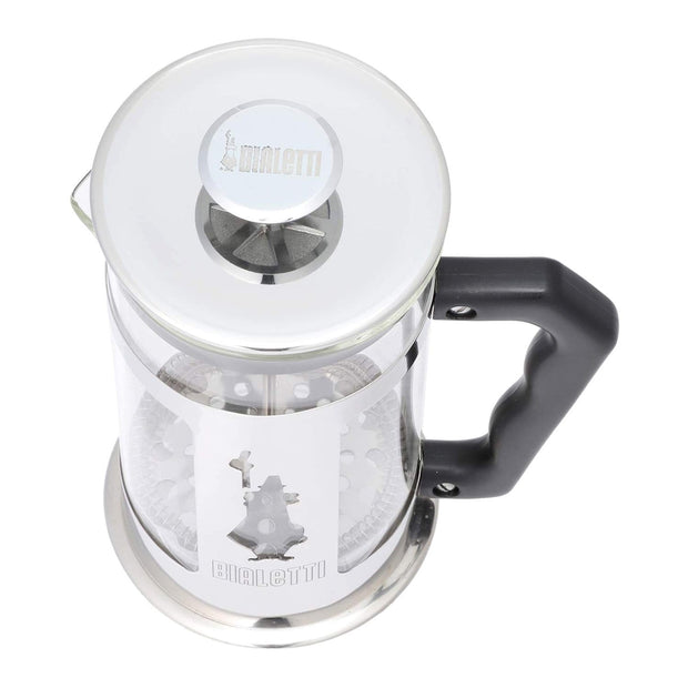 Bialetti Coffee Press Preziosa Press Coffee Maker - Clear, Black and Silver, 1 Litre - 0003130/NW - Jashanmal Home