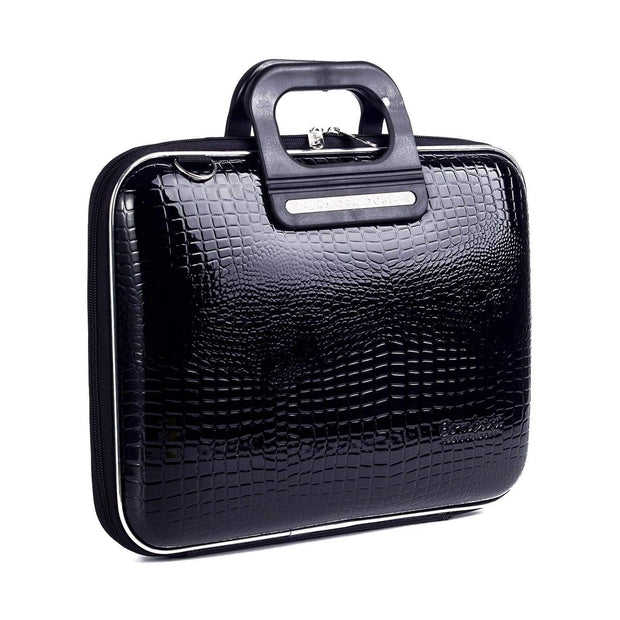 Bombata Sorrento Cocco Briefcase for 13 Inch Laptop - Shining Black - FG3013 4 - Jashanmal Home