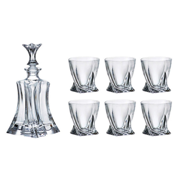 Bohemia Crystal Glass Florale Whiskey Set - Clear - 5391286