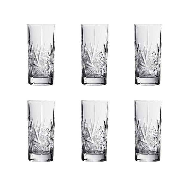 Bohemia Crystal Glass Pressed Hand Cut Long Tumbler - Clear - 5391711
