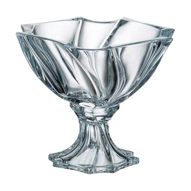 Bohemia Crystal Glass Neptune Footed Bowl - 25.5 cm - 5392044