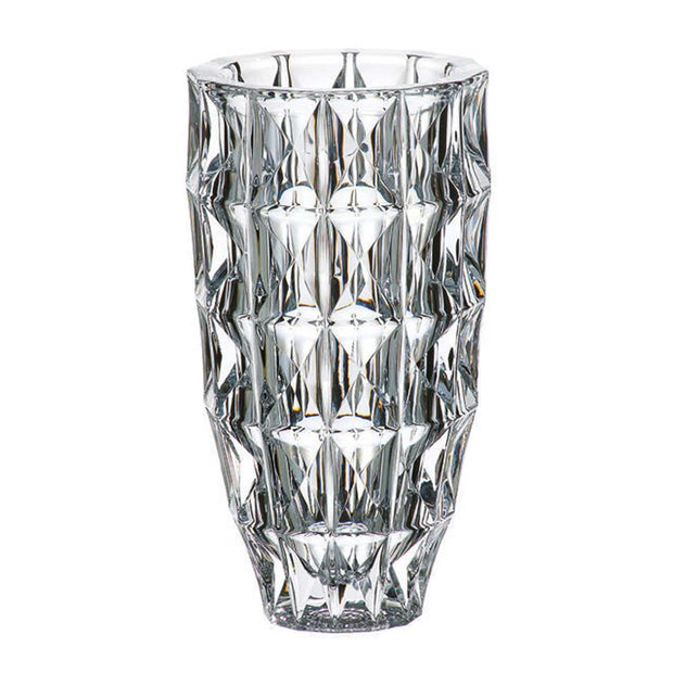 Bohemia Crystal Glass Diamond Vase - 28 cm - 5390844 - Jashanmal Home