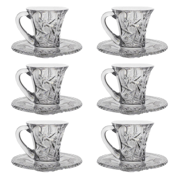 Bohemia Crystal Glass Wellington Cup and Saucer Set - Clear_26008_840 - 5392153 - Jashanmal Home