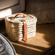 Chabi Chic Palm and Leather Picnic Basket - Medium - CCS.01.46 - Jashanmal Home