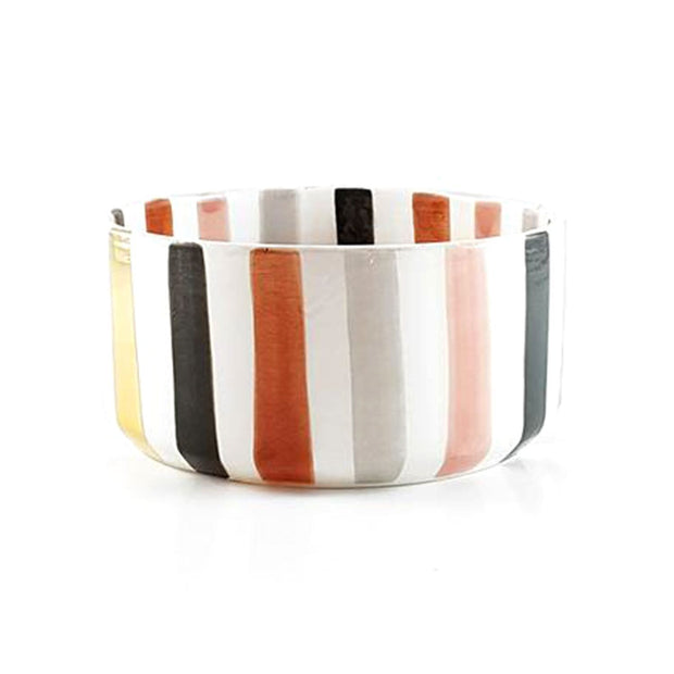 Chabi Chic Ourika Ceramic Straight Bowl - Multicolour, Small - CCV.28.05MAR - Jashanmal Home