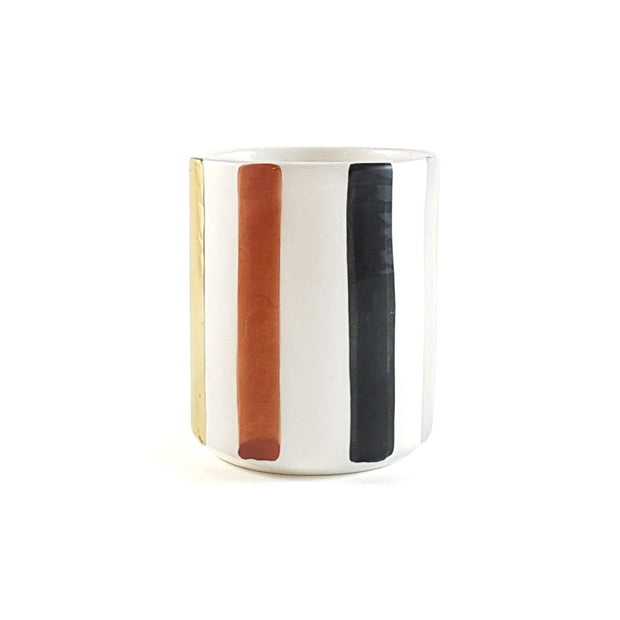 Chabi Chic Ourika Ceramic Straight Cup - Multicolour, Large - CCV.28.03MAR - Jashanmal Home