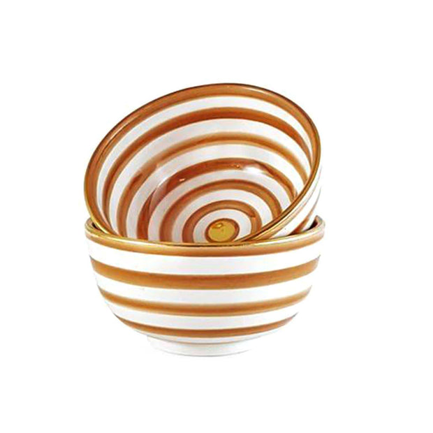 Chabi Chic Ceramic Salad Bowl - Dark Orange and White, Medium - CCV.01.39ORFG - Jashanmal Home