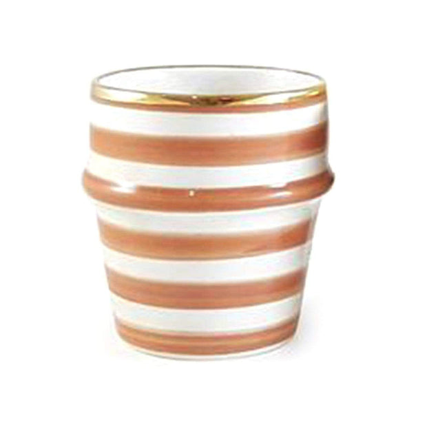 Chabi Chic Ceramic Coffee Cup - Dark Orange and White - CCV.01.36ORFG - Jashanmal Home