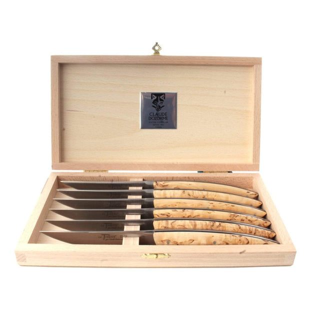 Claude Dozorme Thiers Knife Set with Birchwood Handle and Black Scales - 6 Pieces - 2.90.001.66N - Jashanmal Home