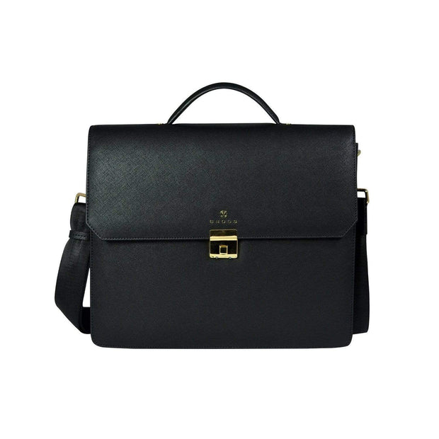 Cross Leather First Class Briefcase for Men Leather - Black - AC791173-1-1