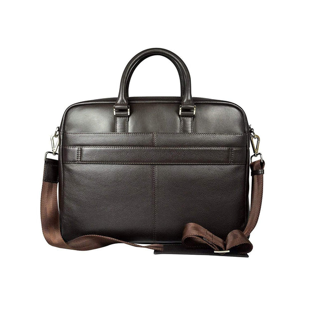 Cross Renovar Slim Leather Briefcase for Men - Oak Brown