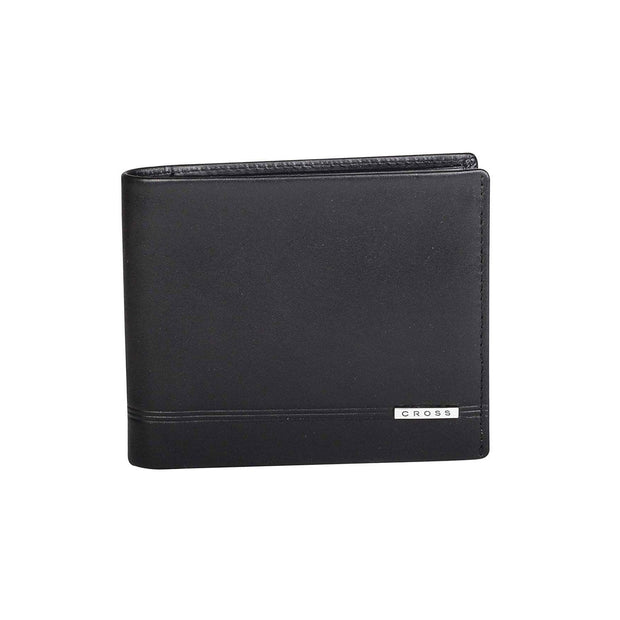 Cross Classic Century Bifold Coin Leather Wallet - Black - AC018072-1-1-RB - Jashanmal Home