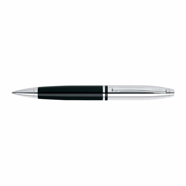 Cross Calais Chrome and Black Lacquer Ballpoint Pen - AT0112-2 - Jashanmal Home