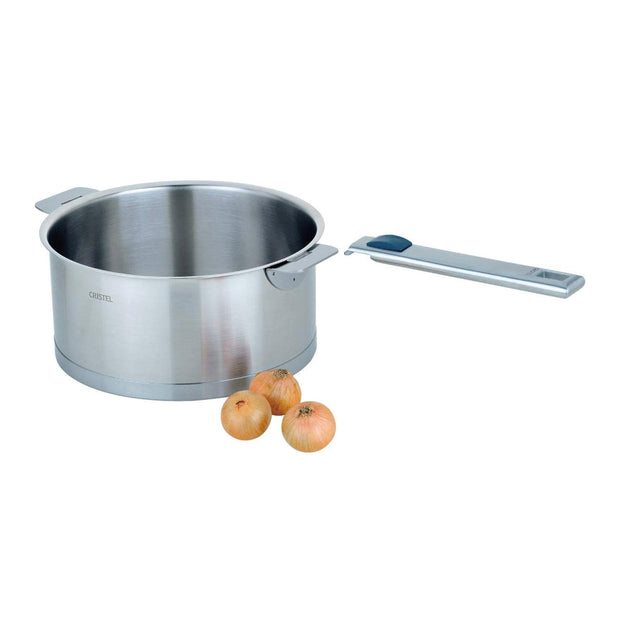Cristel Strate Removable Saucepan - Silver, 14 cm - C14QL - Jashanmal Home
