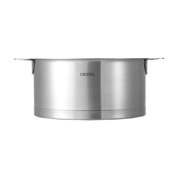 Cristel Strate Removable Saucepan with Envel Bottom - Silver, 20 cm - C20QL - Jashanmal Home