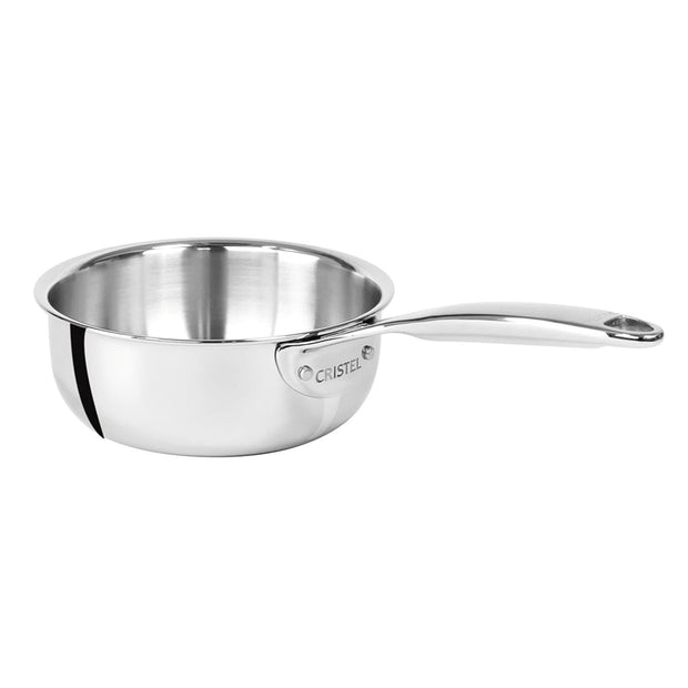 Cristel Strate Pro Multiply Saucepan - Silver, 24 cm - C24CPF - Jashanmal Home
