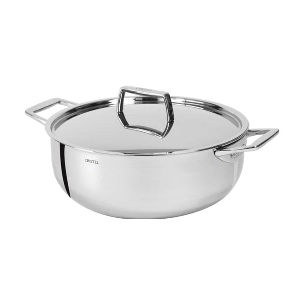 Cristel Strate Pro Multiply Casserole - Silver, 28 cm - F28CPF - Jashanmal Home