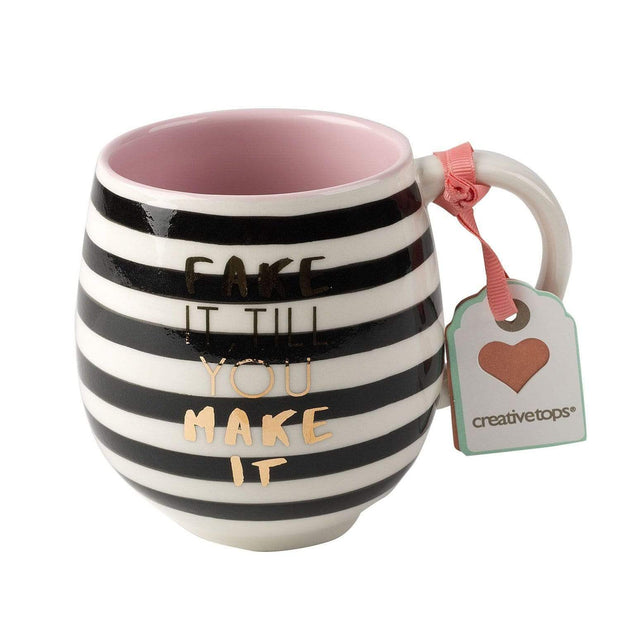 Creative Tops Fake It Tulip Mug - White and Black, 450 ml - 5199933 - Jashanmal Home