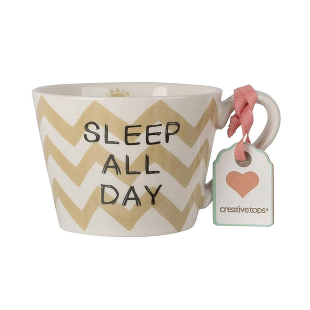 Creative Tops Sleep and Dance Conical Mug - White and Beige, 380 ml - 5199925 - Jashanmal Home