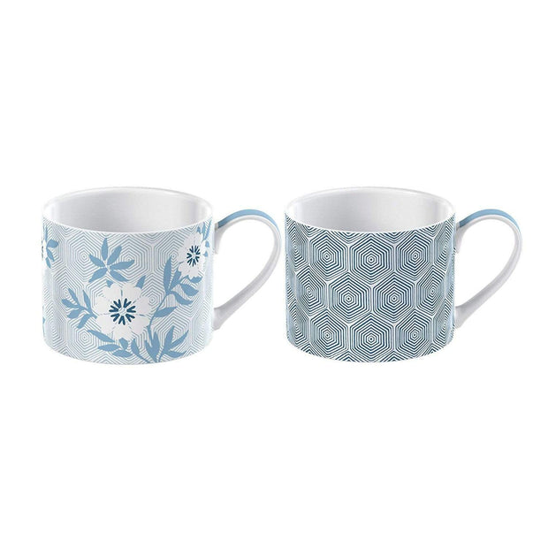 Creative Tops Victoria And Albert Espresso Mug Set -White and Blue, 2 Piece - 5227091 - Jashanmal Home