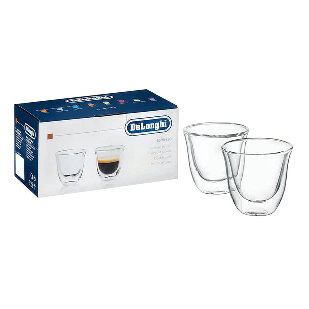 De'Longhi 2 Piece Espresso Glasses - Clear - 5513214591 - Jashanmal Home