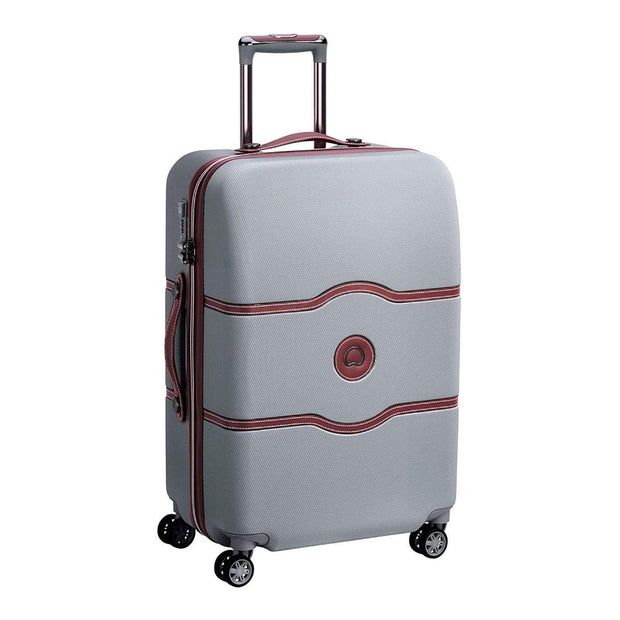 Delsey Chatelet Air 4 Double Wheel Cabin Trolley Case - Silver - 00167281011 SILVER - Jashanmal Home