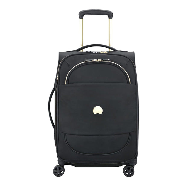 Delsey Montrouge 4 Double Wheel Expandable Cabin Trolley Bag - Black - 00201880100 BLACK - Jashanmal Home