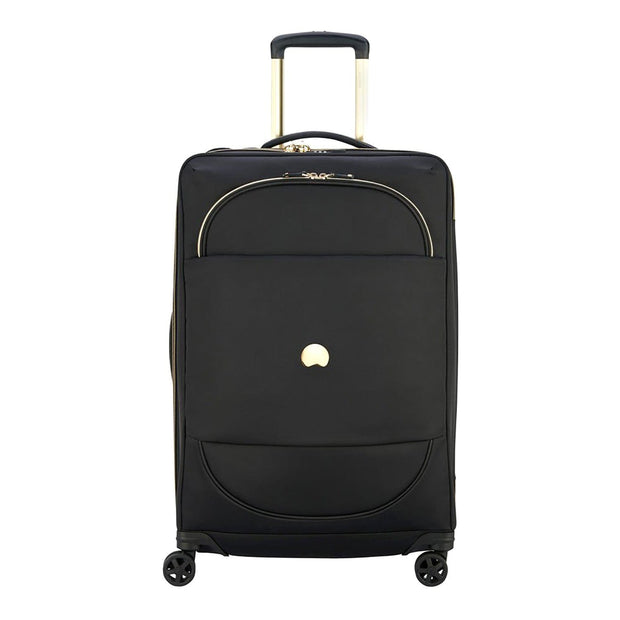 Delsey Montrouge 4 Double Wheel Expandable Trolley Bag - Black - 00201881100 BLACK - Jashanmal Home