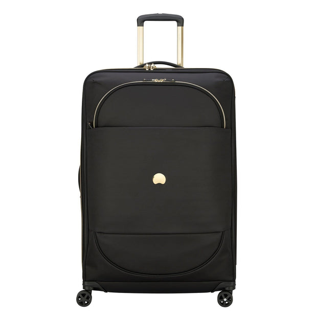 Delsey Montrouge 4 Double Wheel Expandable Trolley Bag - Black - 00201882100 BLACK - Jashanmal Home