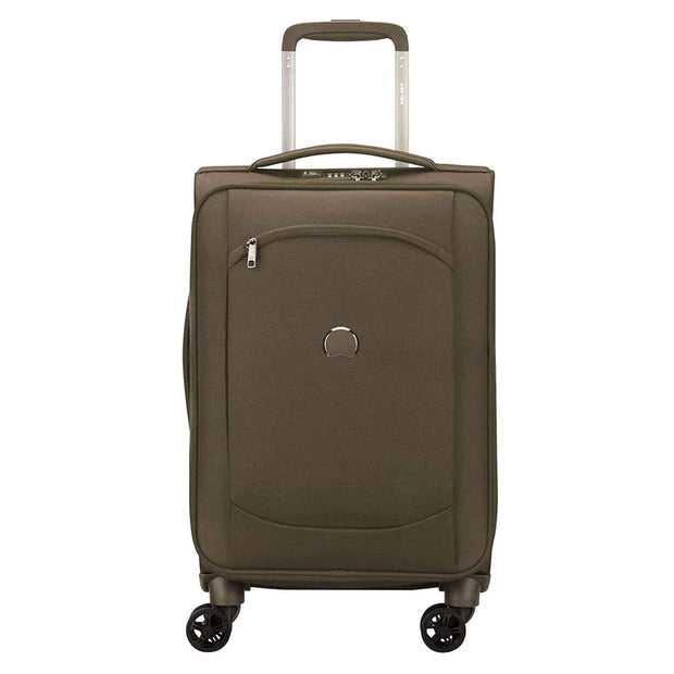 Delsey Montmartre Air 2.0 4 Double Wheel Expandable Cabin Trolley Bag - Khaki, 55 cm - 00235280103 KHAKI - Jashanmal Home