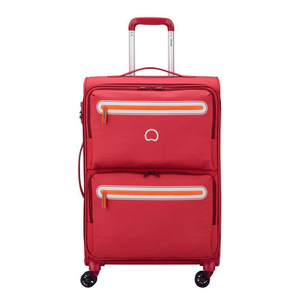 Delsey Carnot 4 Double Wheel Cabin Trolley Bag - Pink, 68 cm - 00303881109 PINK - Jashanmal Home