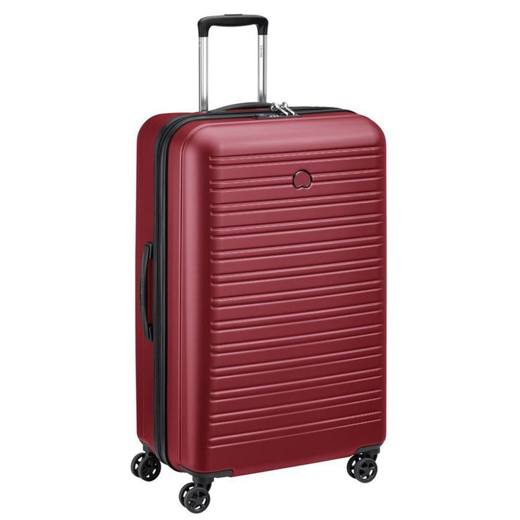 Delsey Segur 2.0 4 Double Wheel Trolley Bag - Red, 78 cm - 00205882104 RED - Jashanmal Home