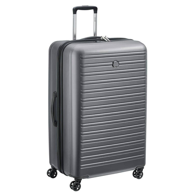 Delsey Segur 2.0 4 Double Wheel Trolley Bag - Grey, 81 cm - 00205883011 GREY - Jashanmal Home